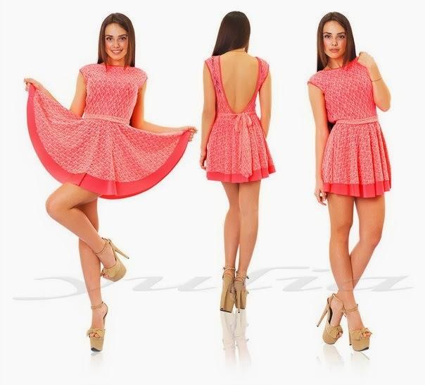 Платье с открытой спиной короткое летнее