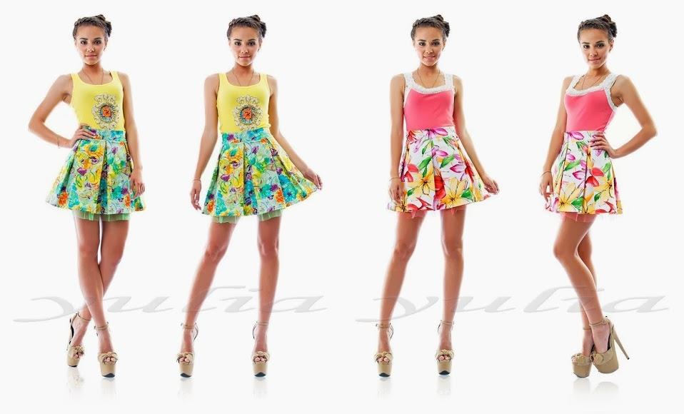 Короткие летние юбки