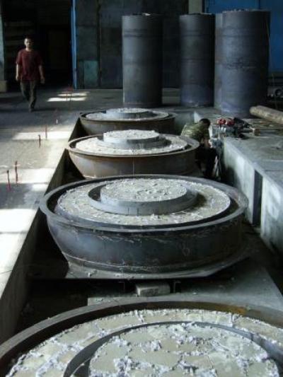 Колпаковая четырехстендовая печь для отжига.