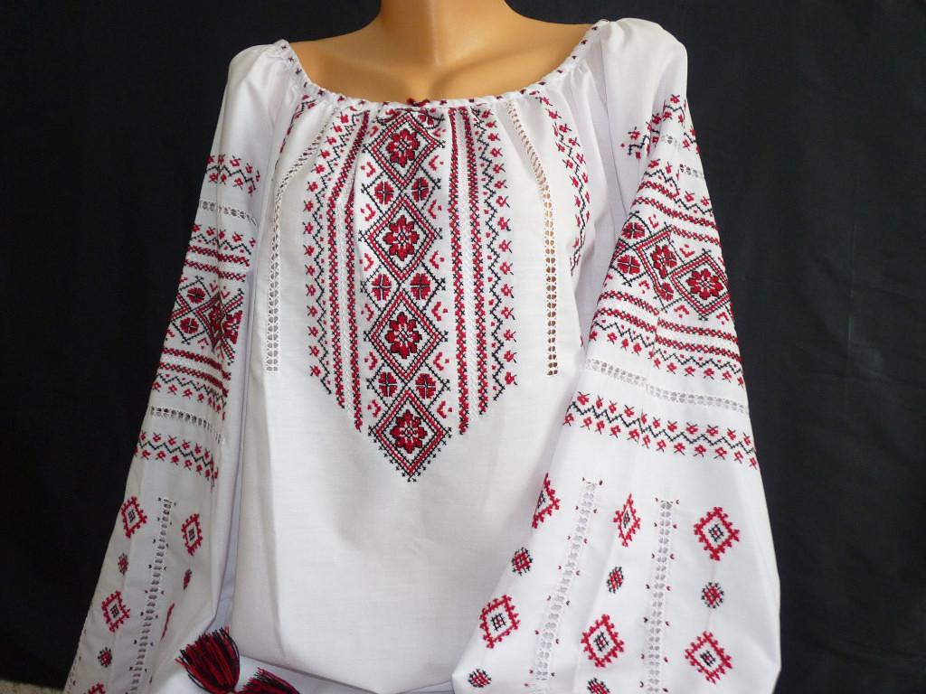 Жіноча сорочка вишита з довгим рукавом ручної роботи - Товари ... 7981b11ec3783