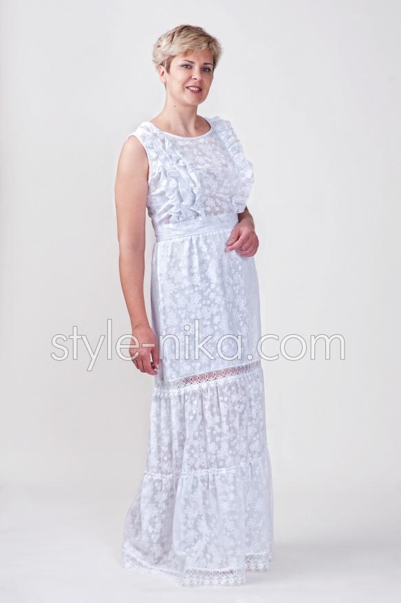 Жіноче довге літнє плаття