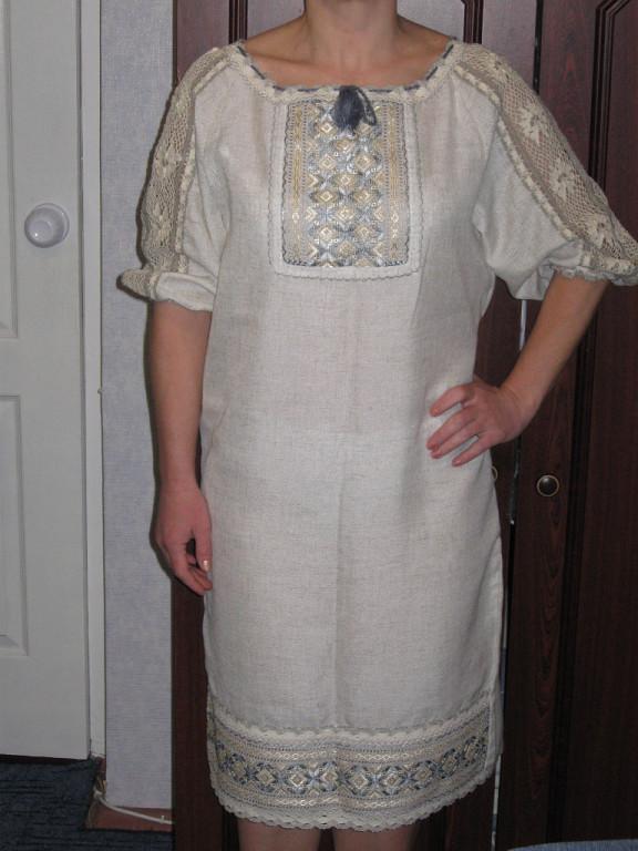 Вишита сукня з мереживом ручної роботи - Товари - Вишиванки ручної ... 80d26085f44fd