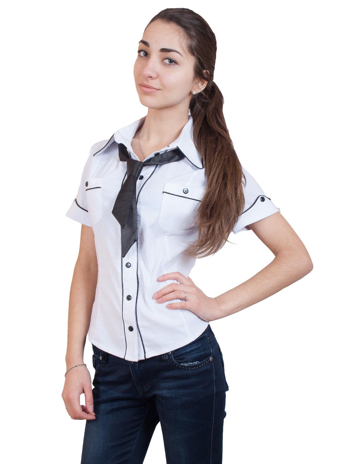 Рубашка с галстуком для девушек фото