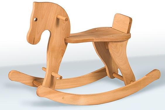 Детская качалка лошадка деревянная