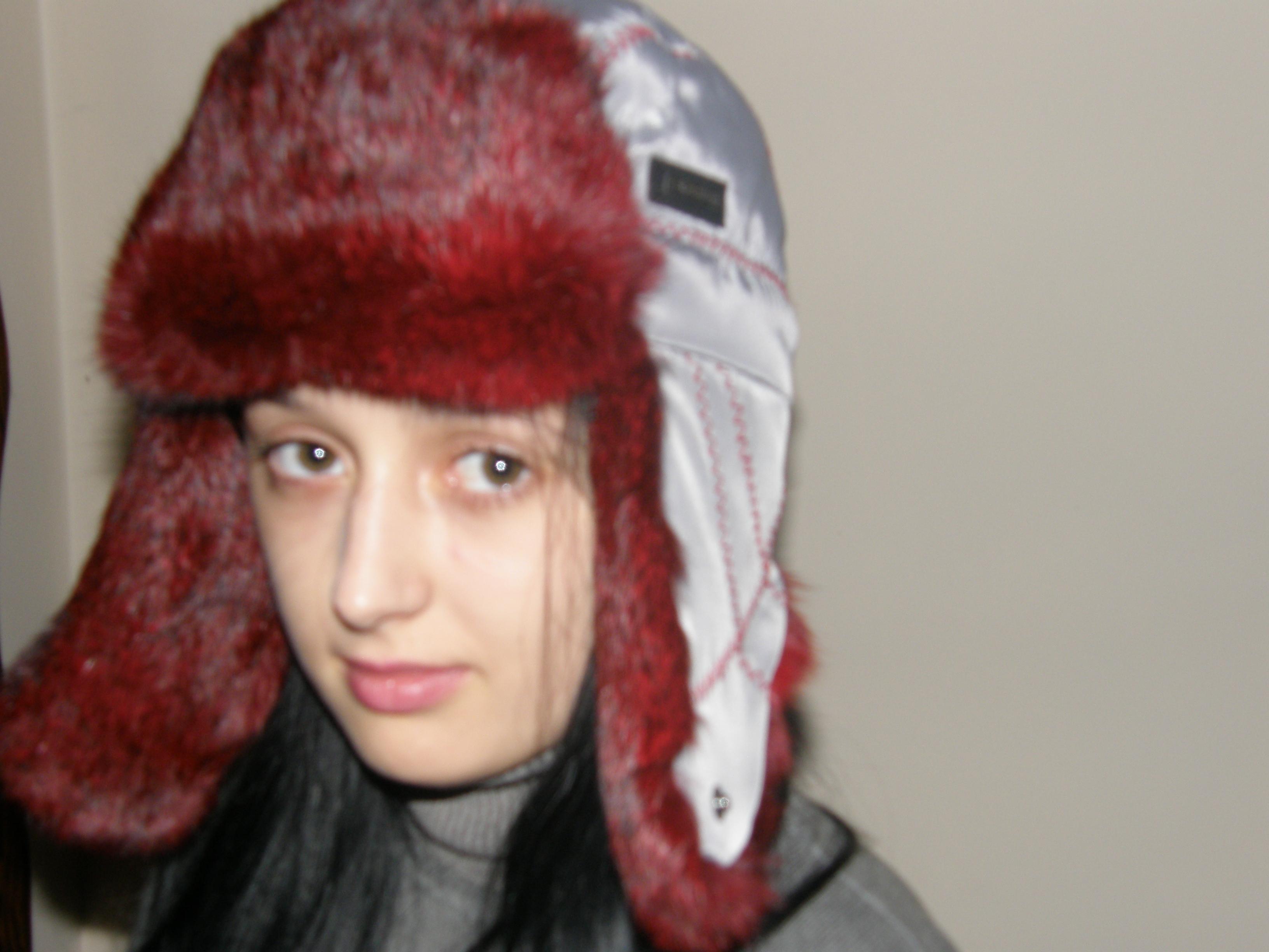 12. Хутряна шапка вушанка жіноча (червоне хутро) ціна 0e880e3c69532