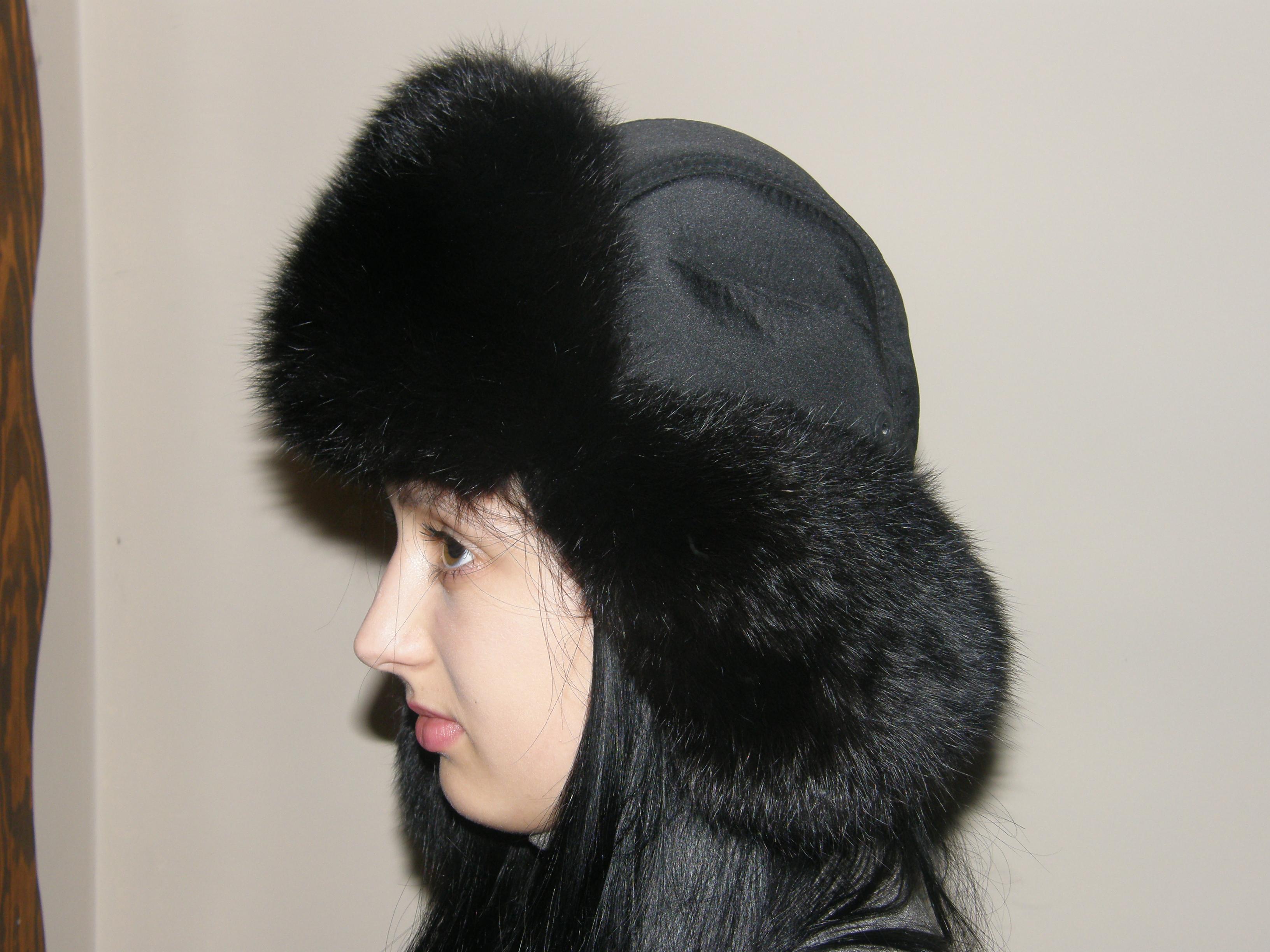 15. Хутряна шапка вушанка (чорна) ціна a6b27e9d63e6d