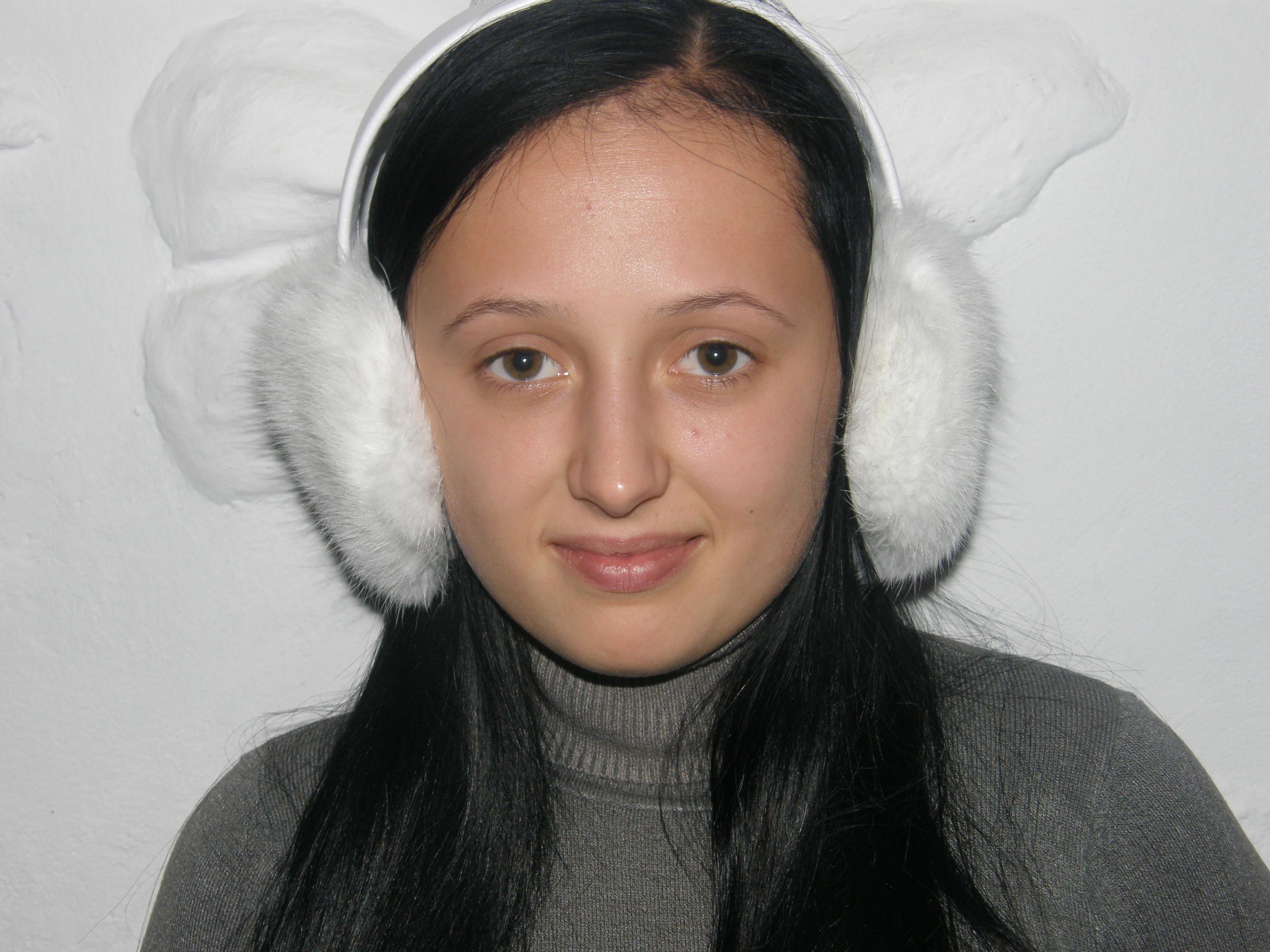 7. Меховые наушники из кролика (белые) - Товары - Шапки из ... 9962eb4a03071