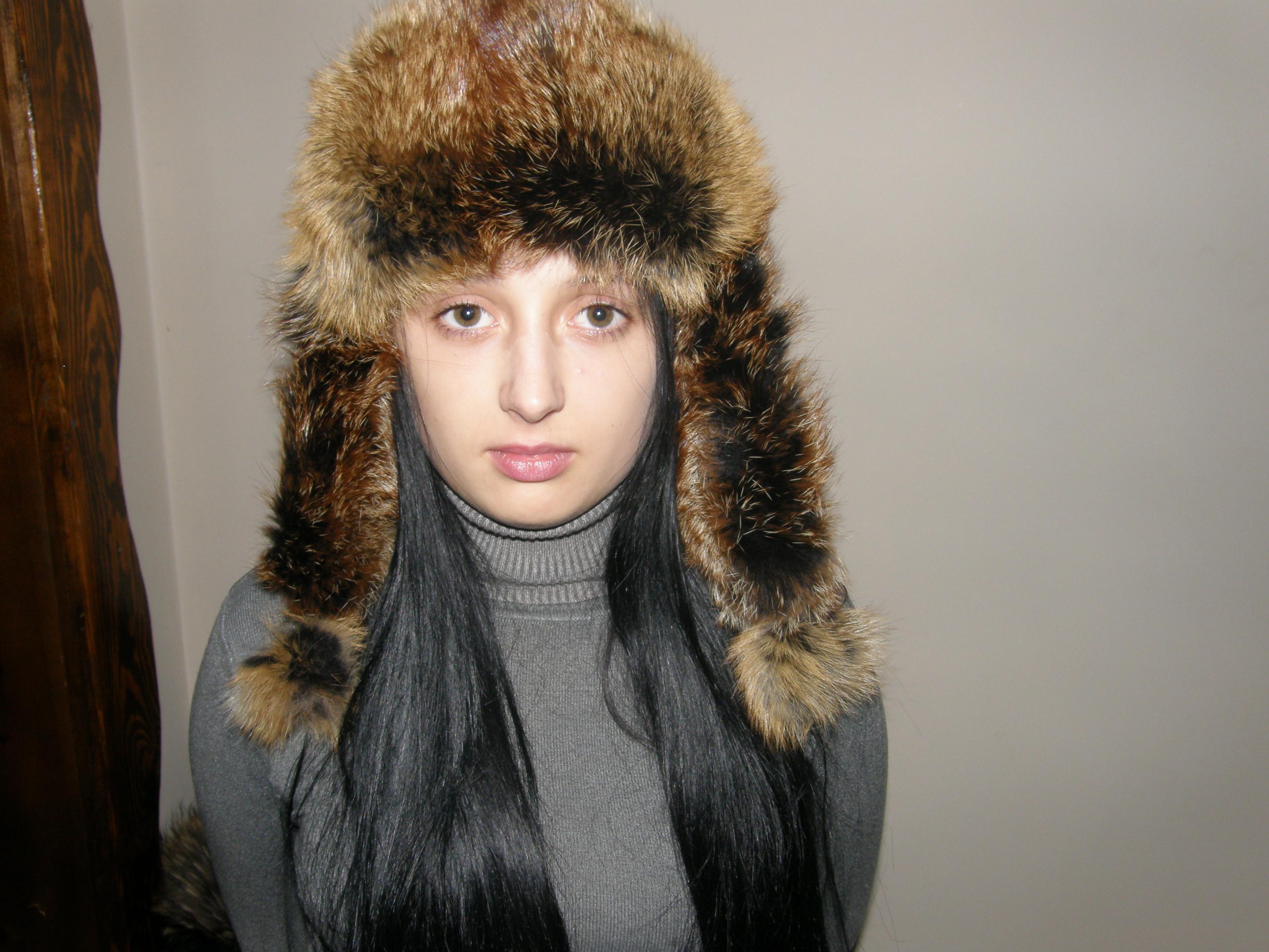 2. Жіноча хутряна шапка (тонована лисиця) ціна d48fc843c4bd9