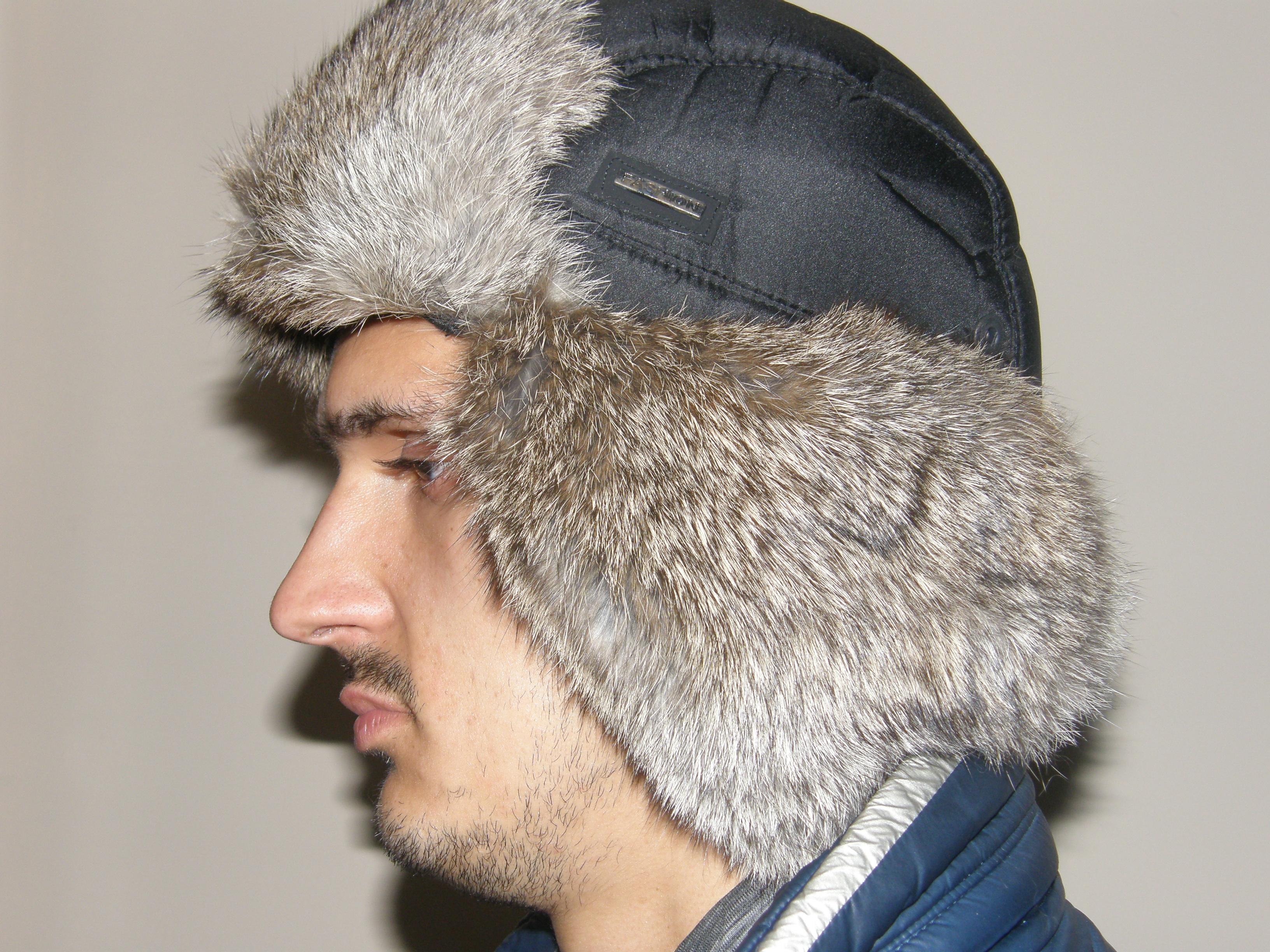 6. Чоловіча кроляча шапка-вушанка ціна 64cbc1d159b62