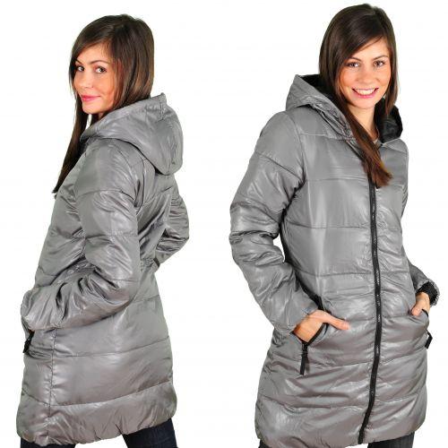 Куртка жіноча довга кольору металік ціна 40e13765f360c