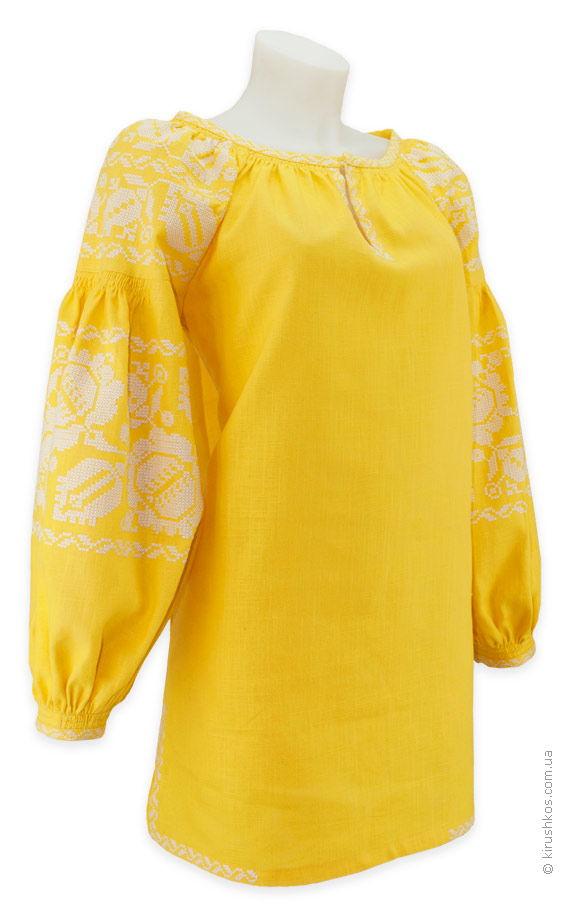 Сонячна жіноча вишиванка з великими квітами - Товари - Майстерня ... f47823e6dbdf3