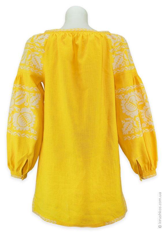 Сонячна жіноча вишиванка з великими квітами ціна 0b506e4fb9f5d