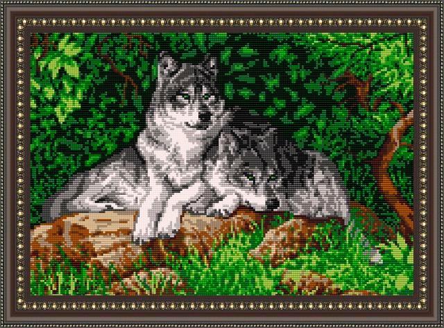 браслет волк из бисера - Город бисера.
