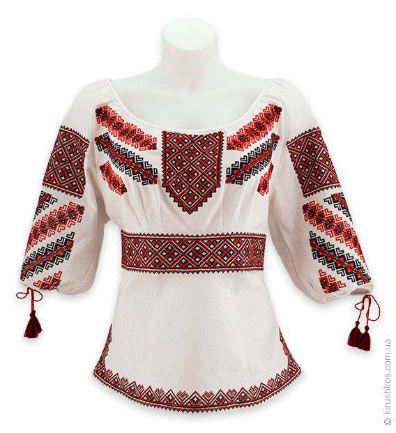 Пишна жіноча вишиванка з гуцульською вишивкою у традиційній гамі ... e27a079186148
