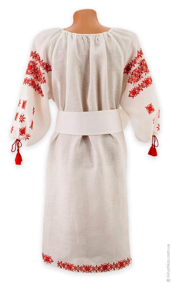 Біле лляне плаття з яскравою вишивкою грайливою. loading... Наведіть  курсор 1b608f7489508