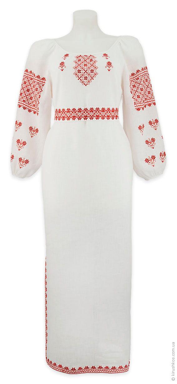 Лляне плаття з червоною наддніпрянської вишивкою льняного платья с красной  надднепрянской вышивкой 686de056b9d36
