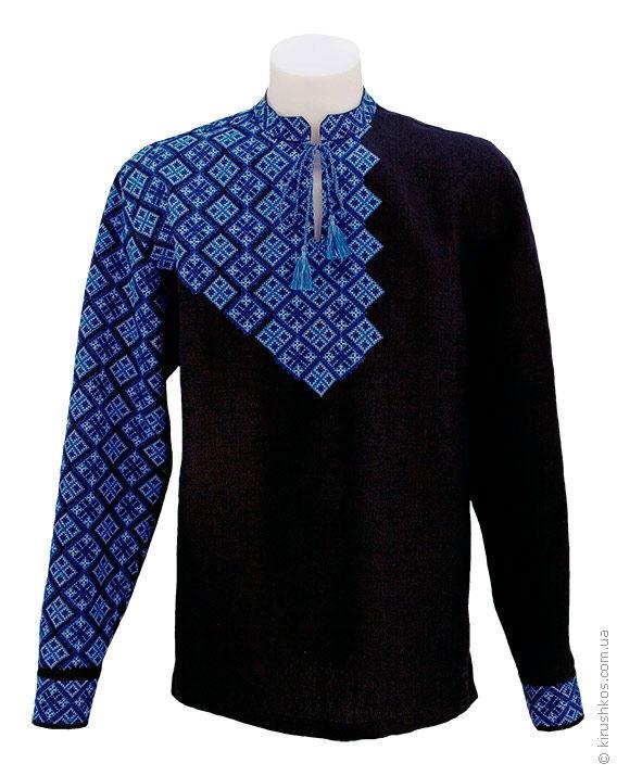 Комплект вишиванок з чорного льону для пари - Товари - Майстерня ... 980948301c6c0