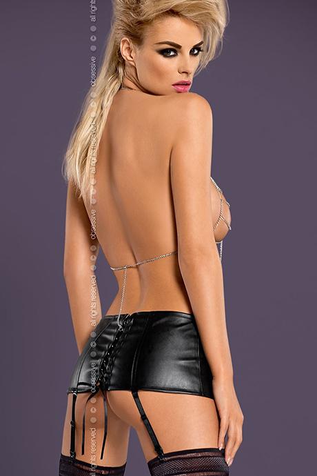 Комплект еротичної білизни Obsessive PUNKER GARTER BELT ціна 76362c67ef332