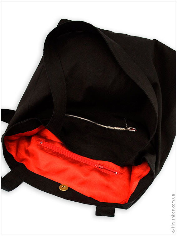 Сумка з синтетичної чорної тканини з сучасної вишивкою - Товари ... 30465ee8e3808