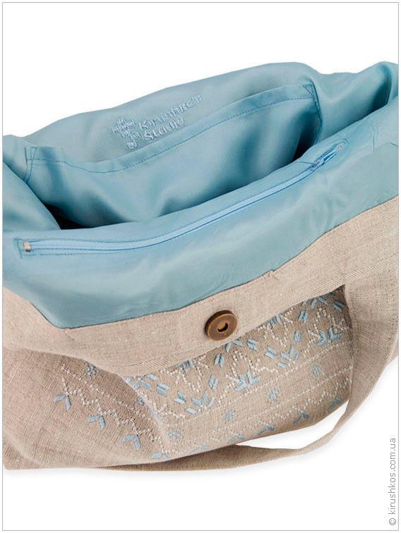 Лляна сумка з філігранною вишивкою - Товари - Майстерня художньої ... a33b65f556da8