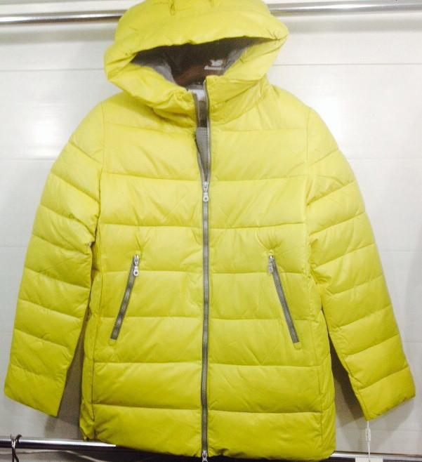 Жіноча зимова куртка на холлофайбере лимон оптом ціна 6a061b3687424