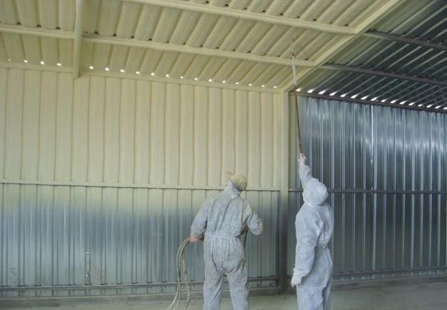 Утепление металлического гаража изнутри