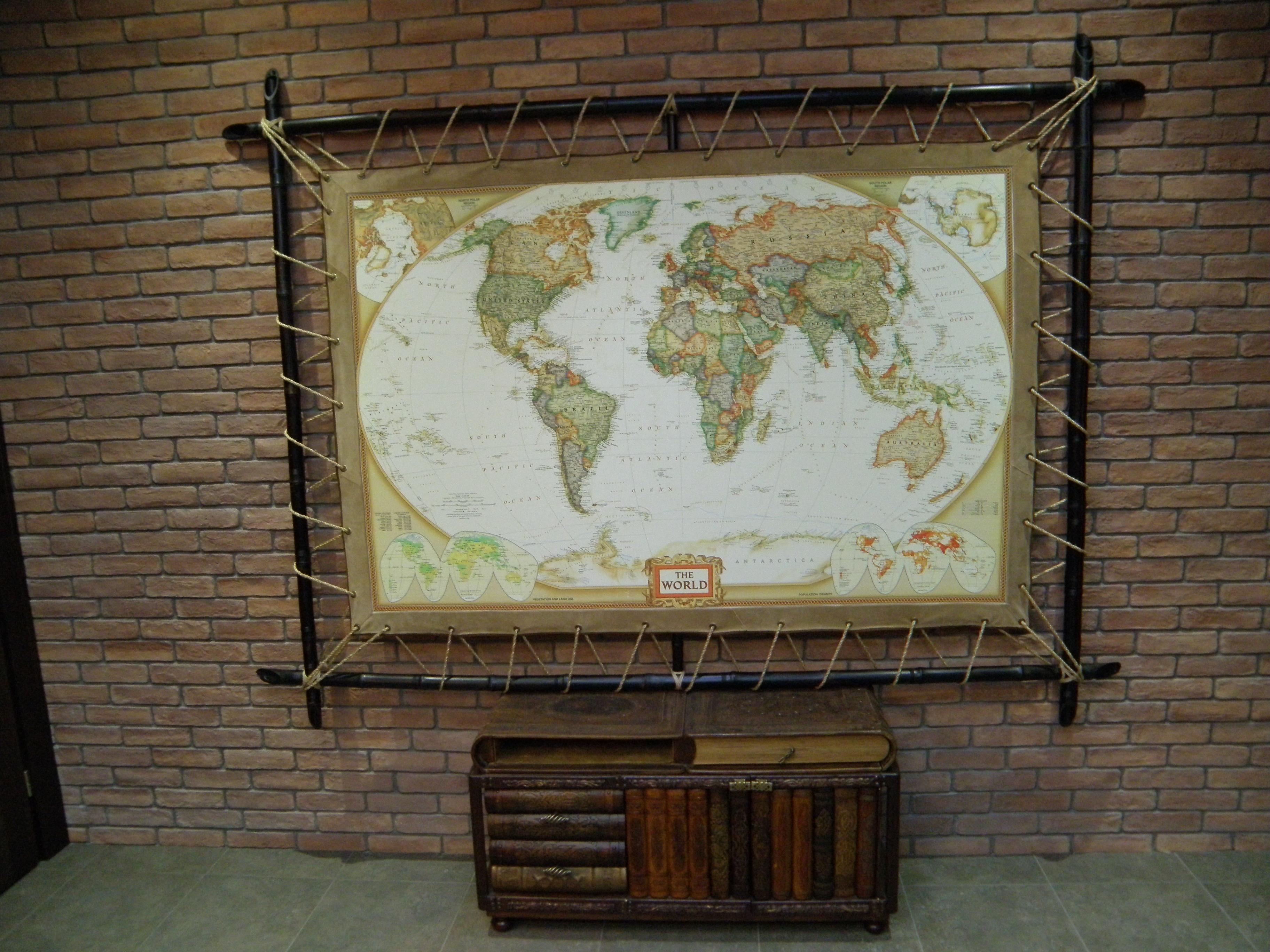 Рамка для карты мира своими руками 59