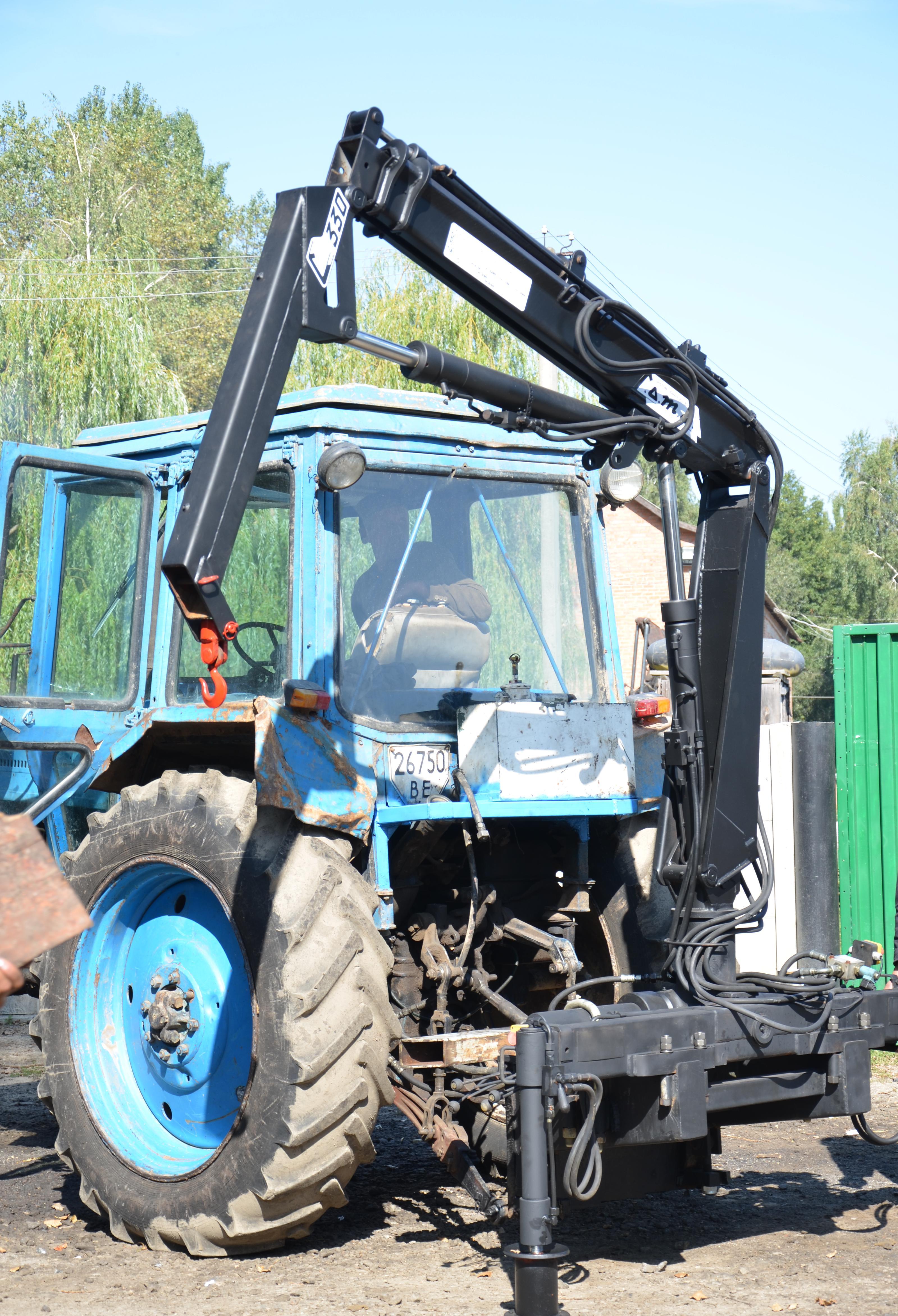 Гидроманипулятор своими руками на трактор для леса 43