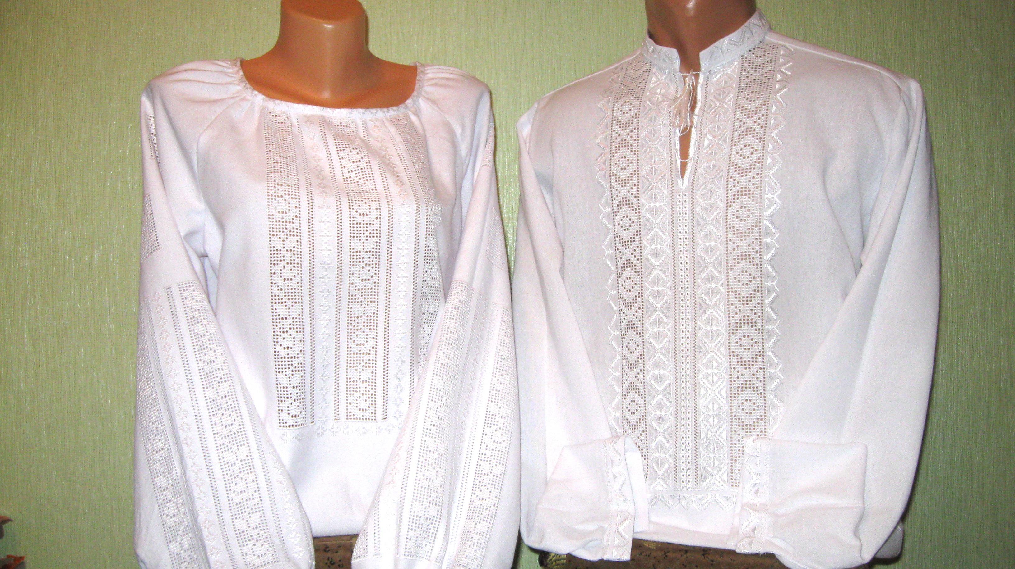 Парные вышиванки белым по белому - Товары - Вишиванки ручної роботи ... fb2defbac7f45