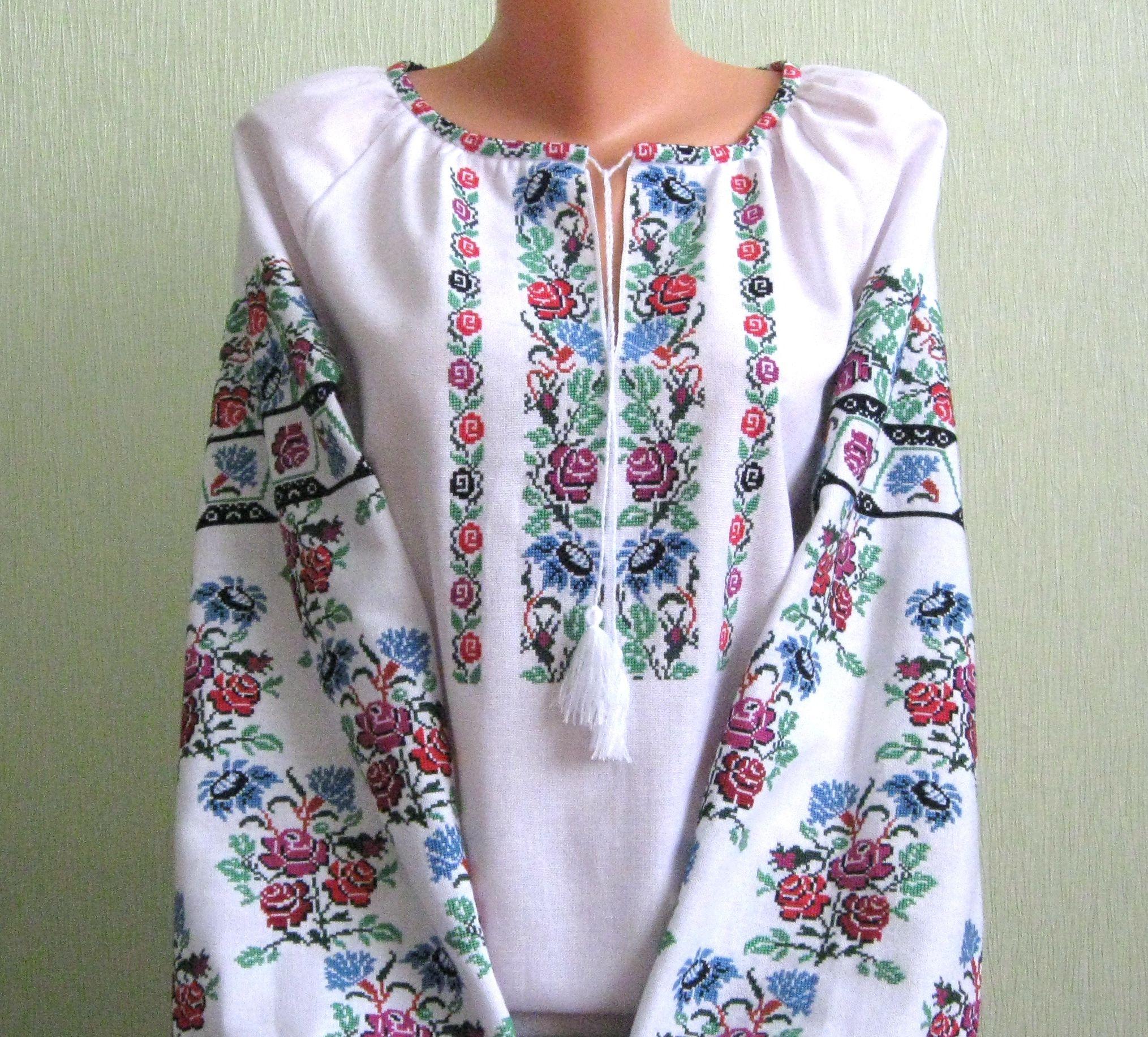сучасна вишиванка ручної роботи жіноча ціна 506e3aeb0fa32