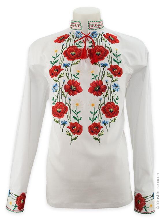 4d59fea9a280e9 Сорочка вишиванка біла з маками - Товари - Майстерня художньої ...