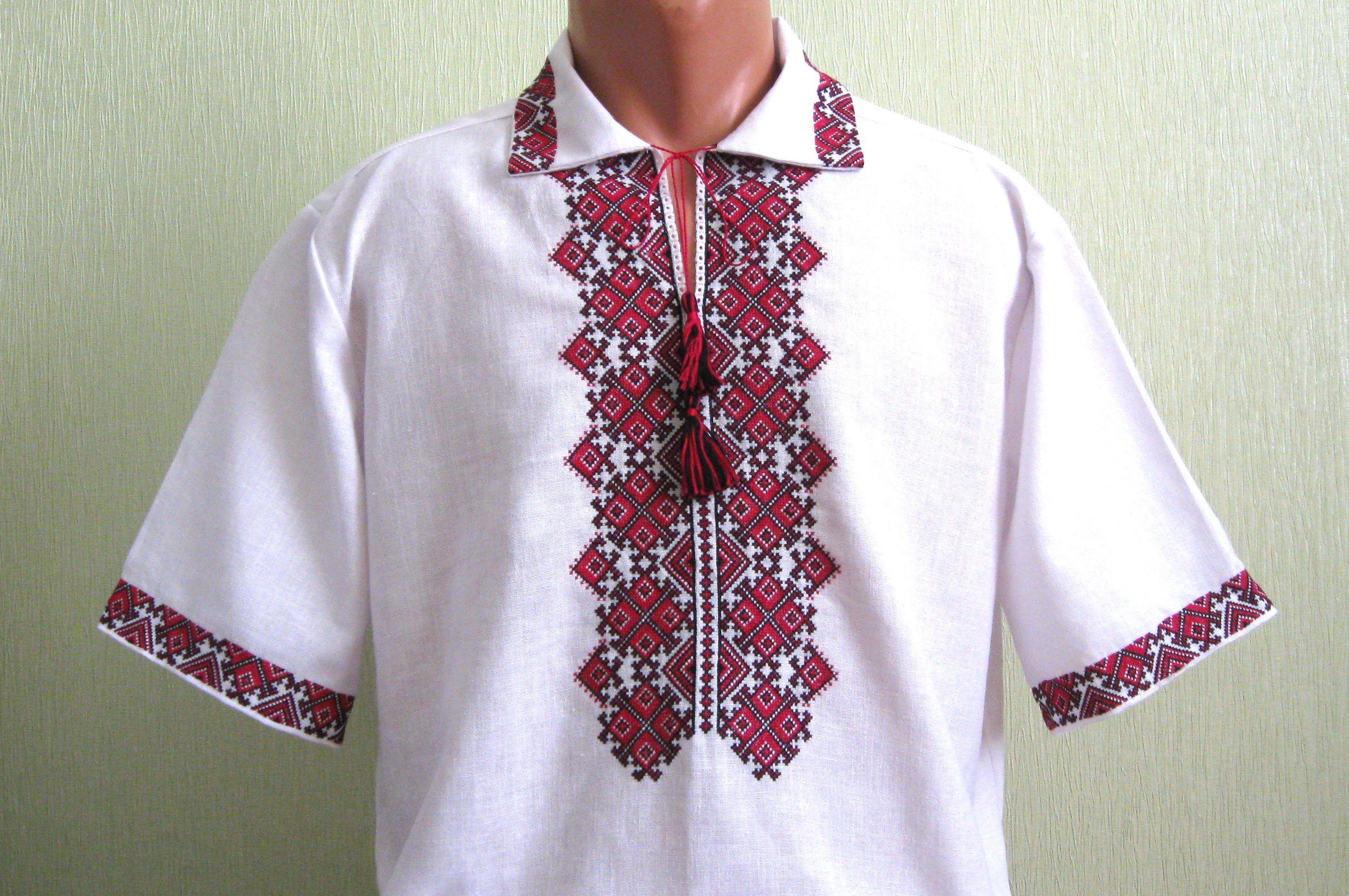 мужская вышиванка с коротким рукавом - Товары - Вишиванки ручної ... 9327ce0426a99