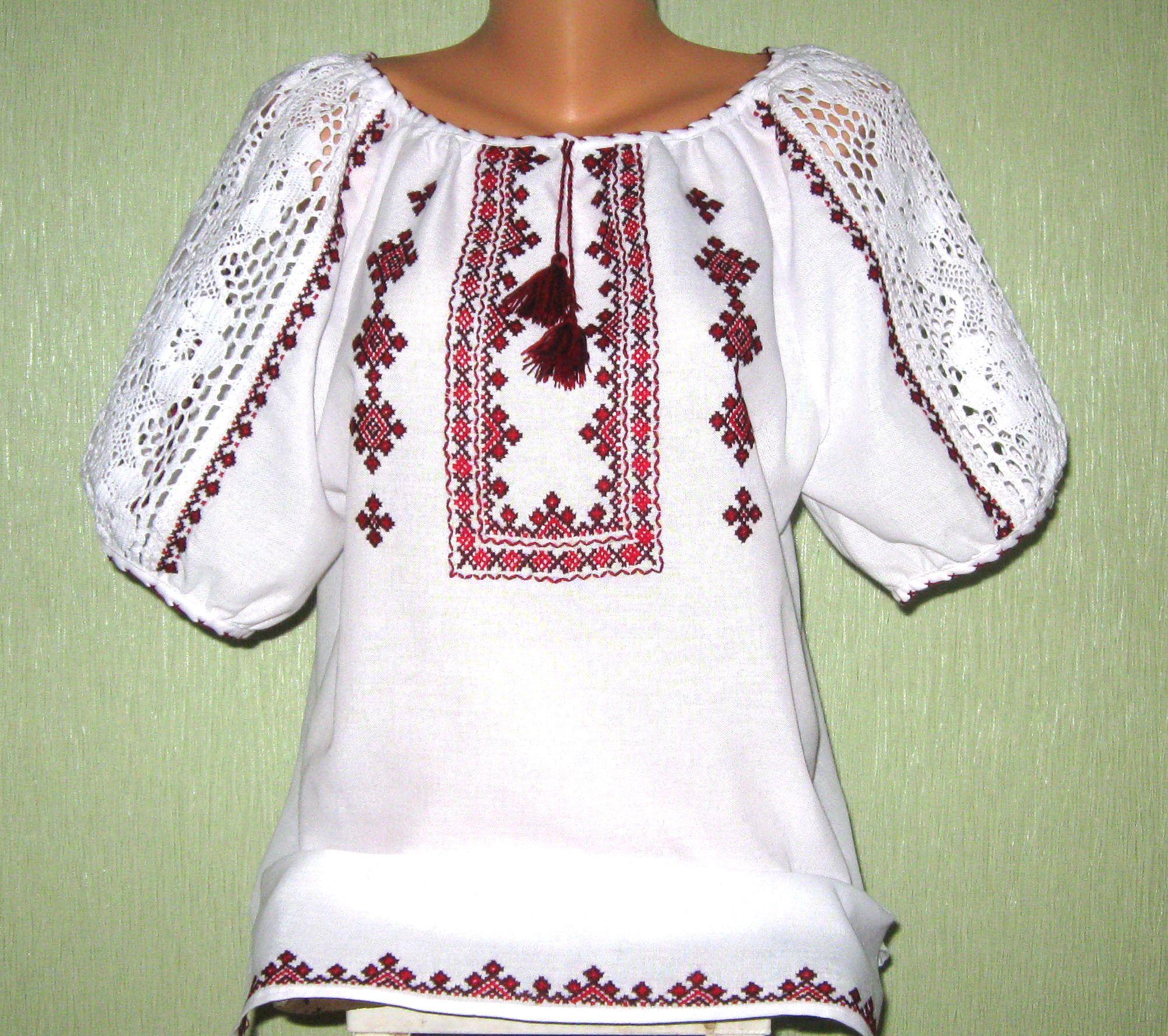вишита сорочка жіноча з білим мереживом ціна 1204100edd44d