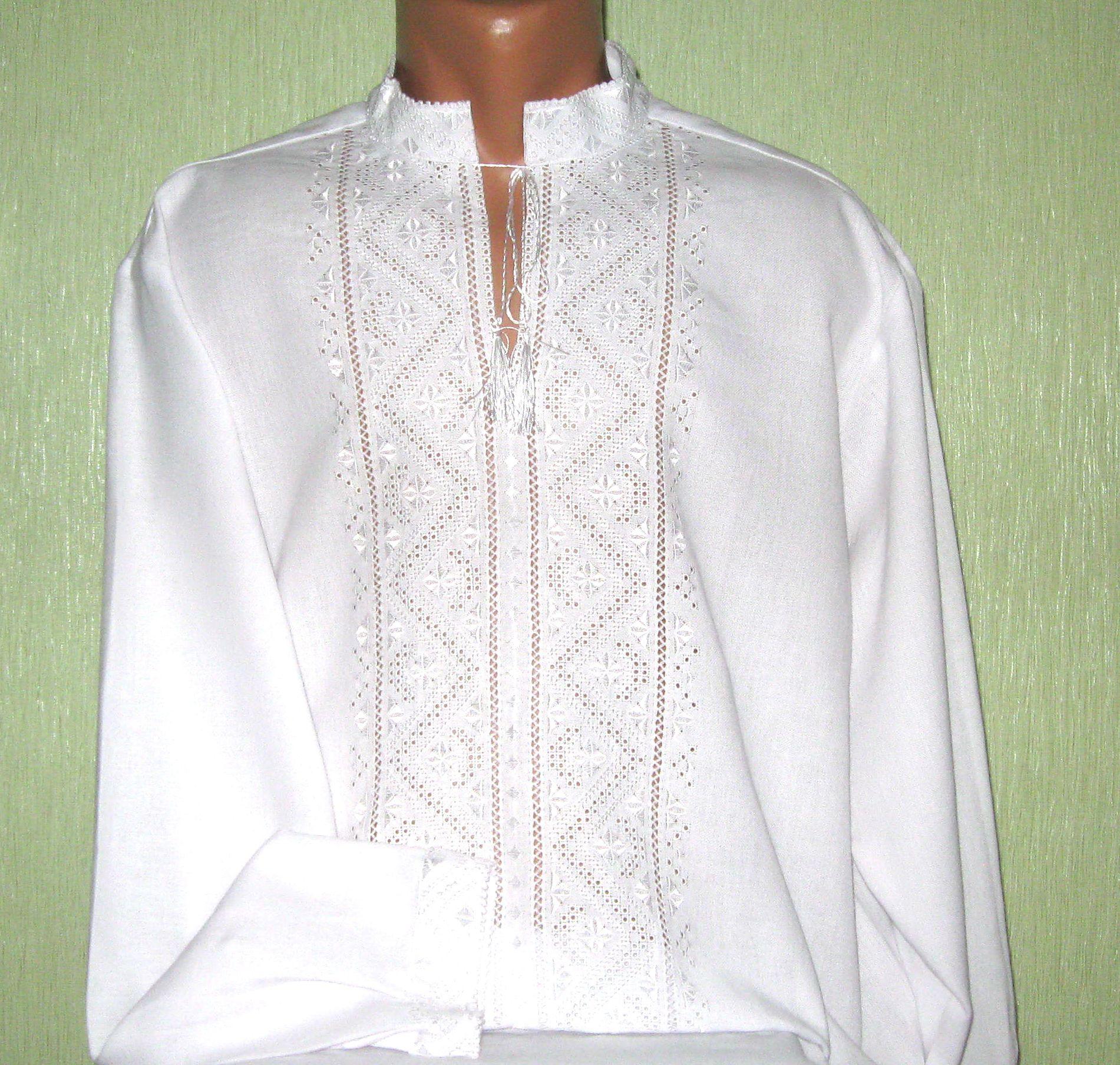 рубашка чоловіча вишита білим по білому ціна 2d1f48da290a1