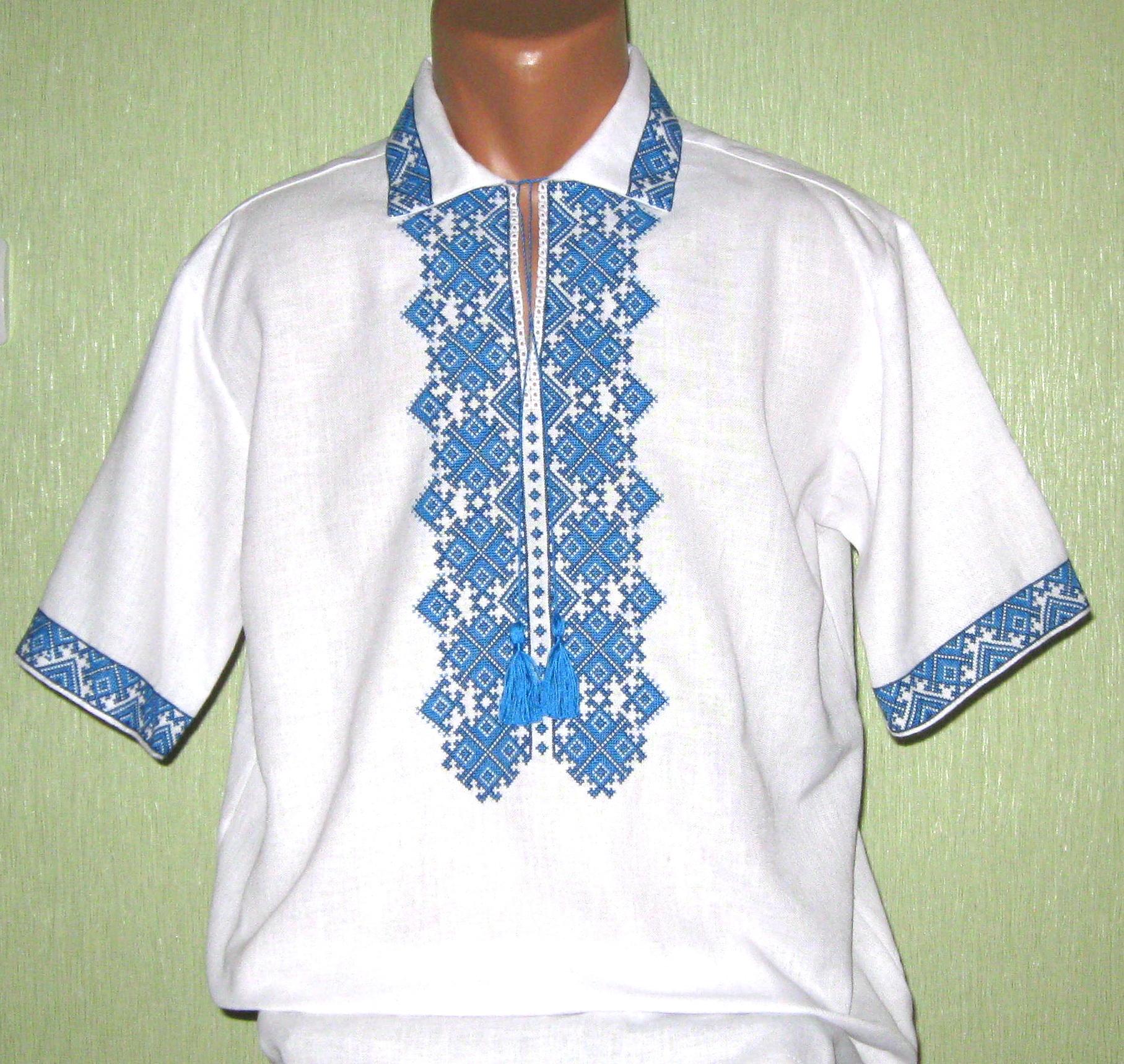 вишиванка чоловіча з коротким рукавом - Товари - Вишиванки ручної ... 93b90e98af7c1
