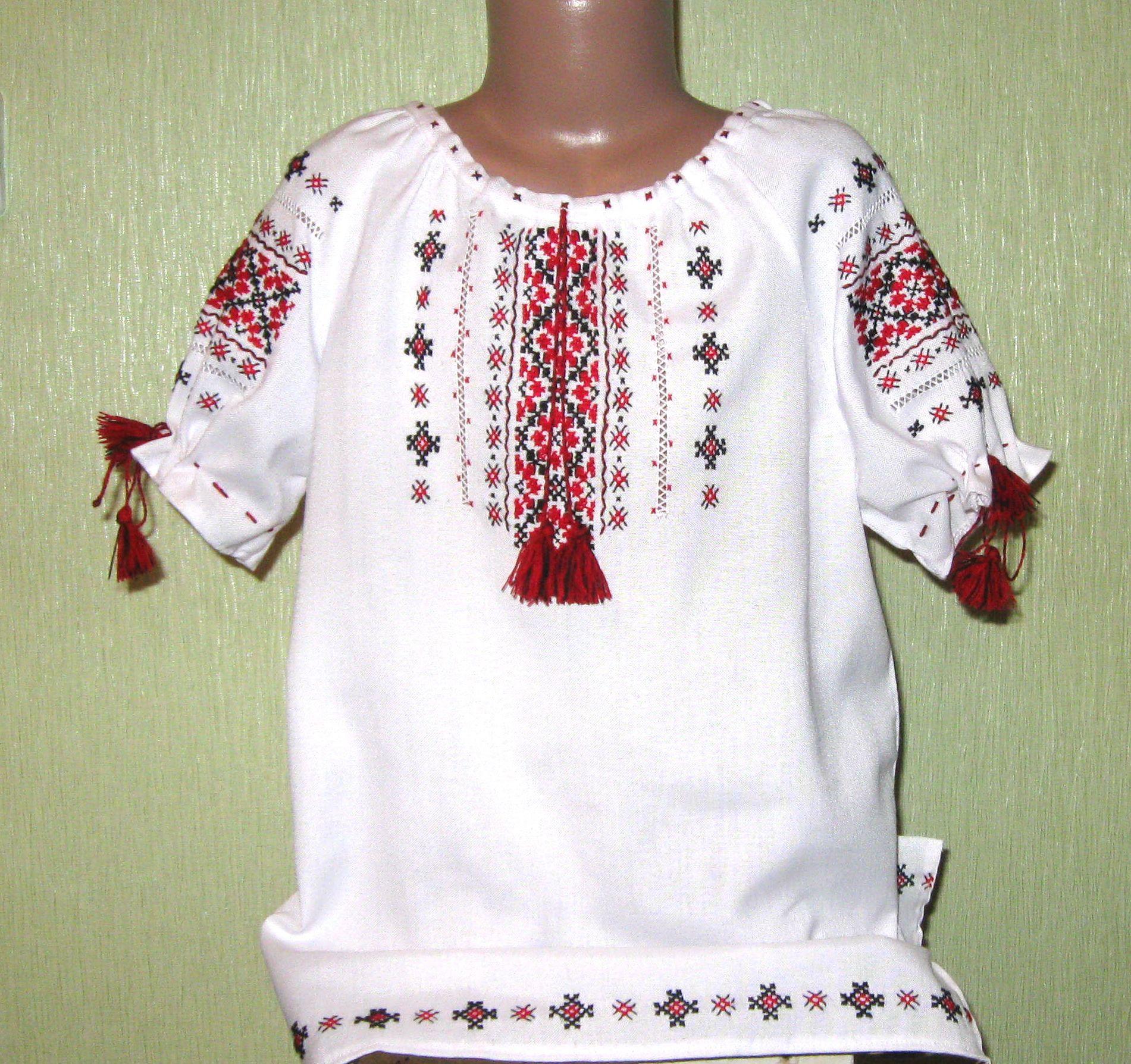 вишиванка для дівчинки з коротким рукавом - Товари - Вишиванки ... 2e291cbb8512e