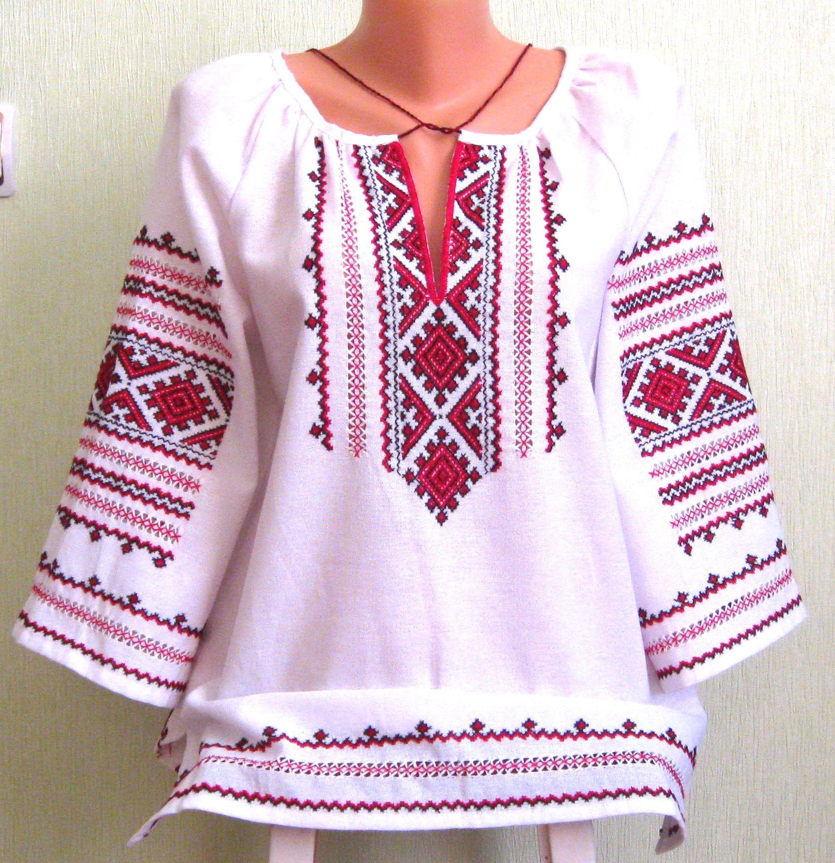 Украинская вышивка сорочки
