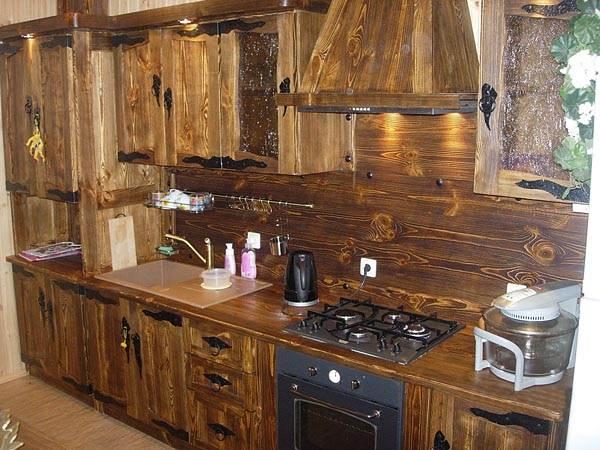 Кухня из массива своими руками фото
