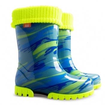 Гумові чоботи DEMAR TWISTER LUX FLUO d (Жовто-блакитна мозаїка) 2543196d0afe9