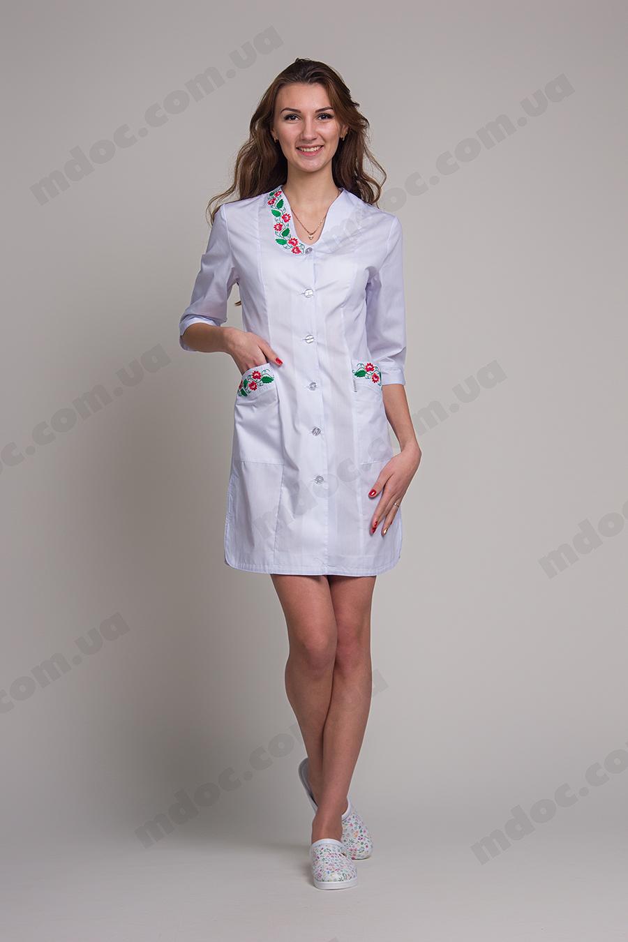 Мед халаты с вышивкой модный доктор