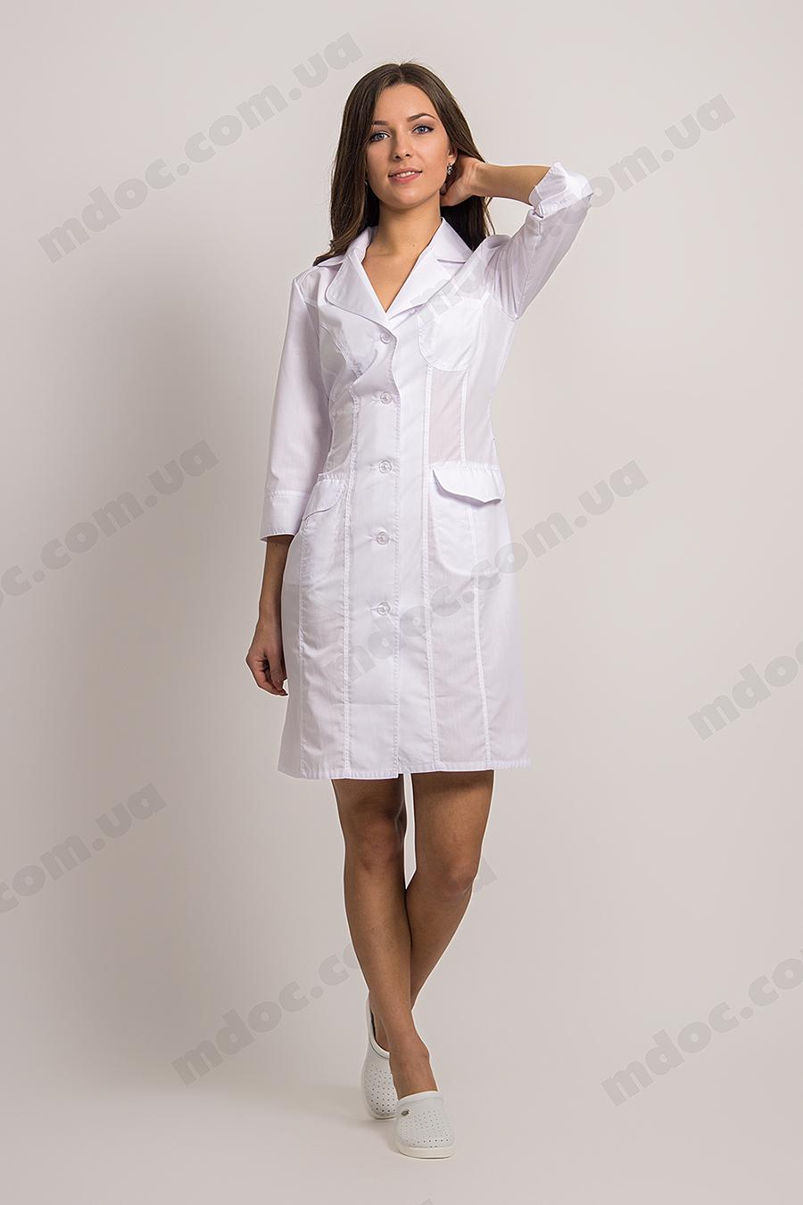медицинский халат белый фото