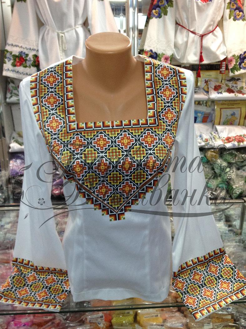 Схемы для вышивки рубашек женских БЖ-029.