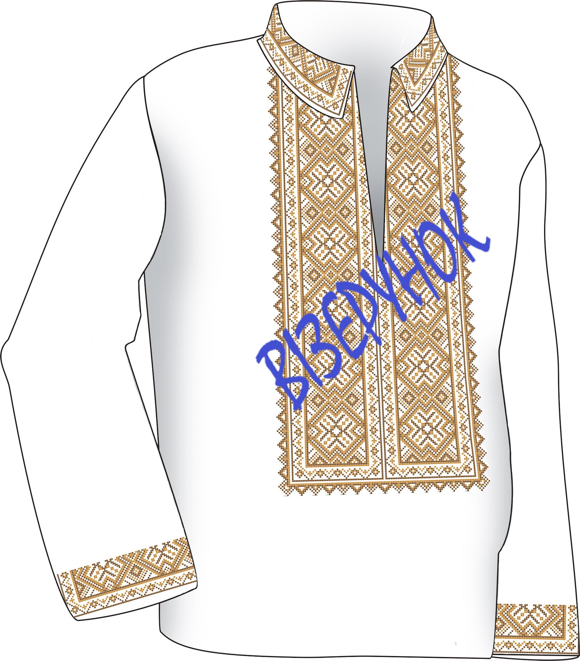 Заготовка вишивки чоловічих сорочок ВЧ -21 - Товари - Схеми для ... 3c3eb0290eed8