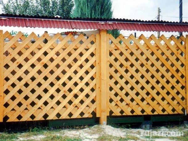 Забор для дачи из дерева своими руками фото
