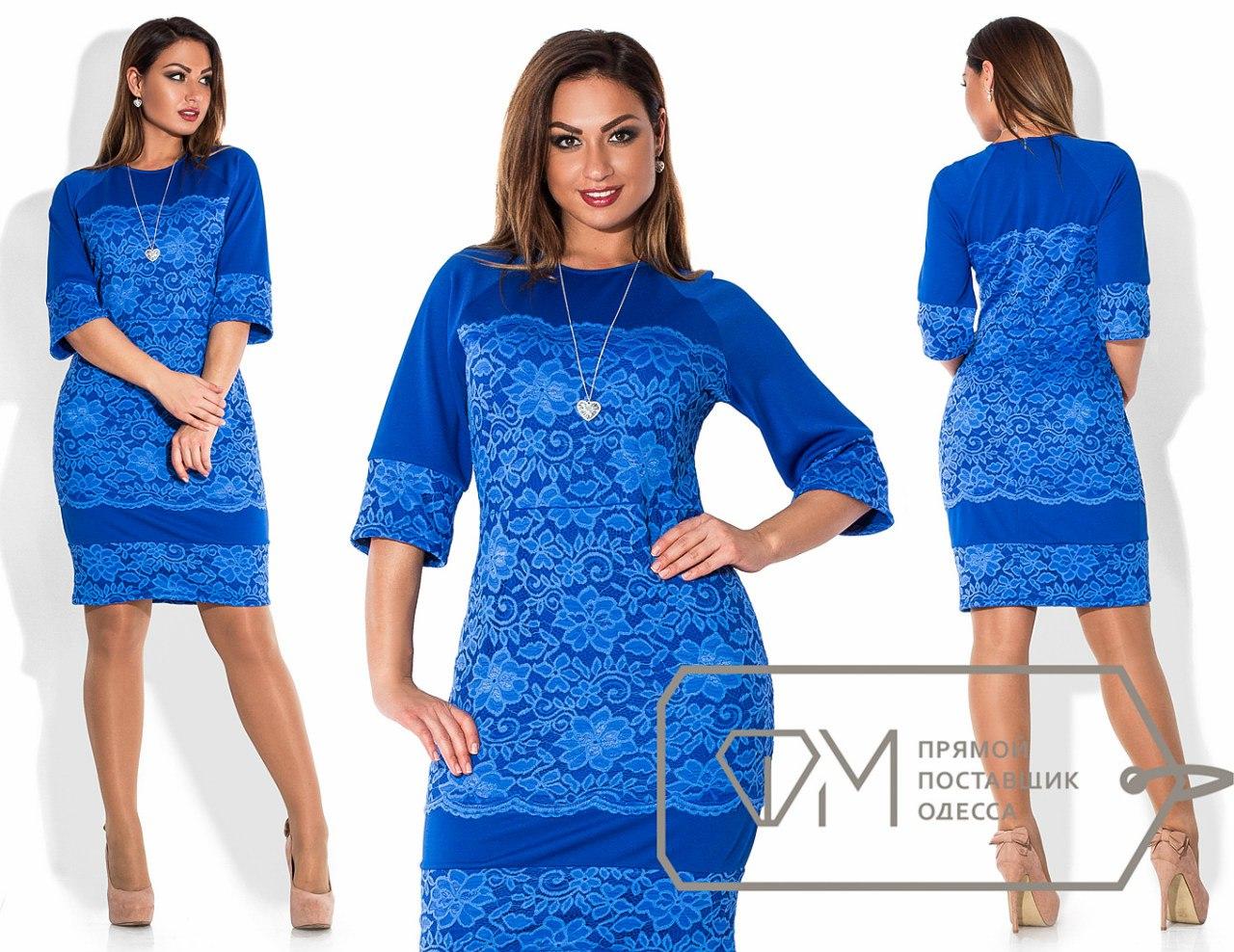Платье больших размеров с гипюром купить