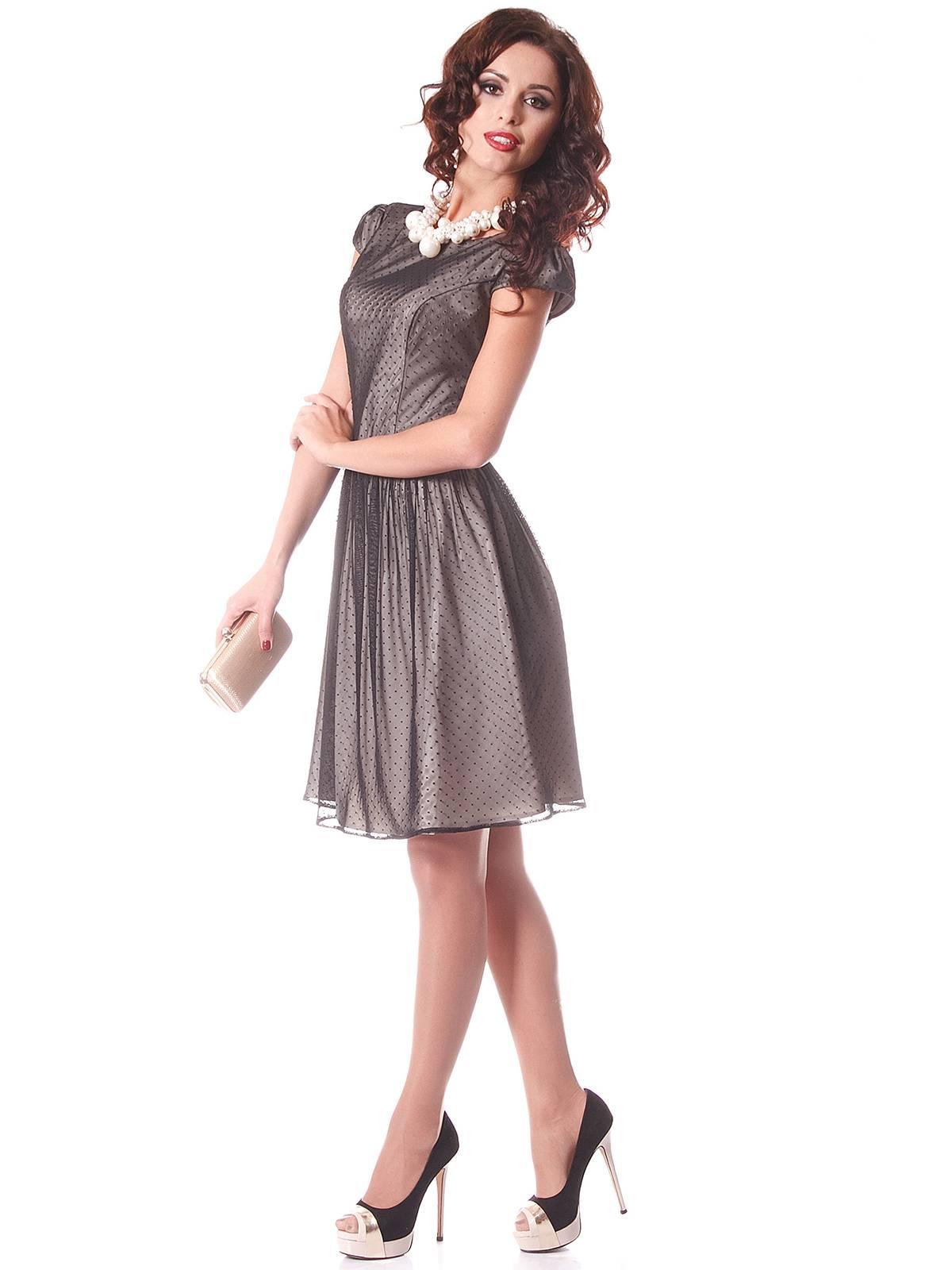Двухслойное платье с сеткой