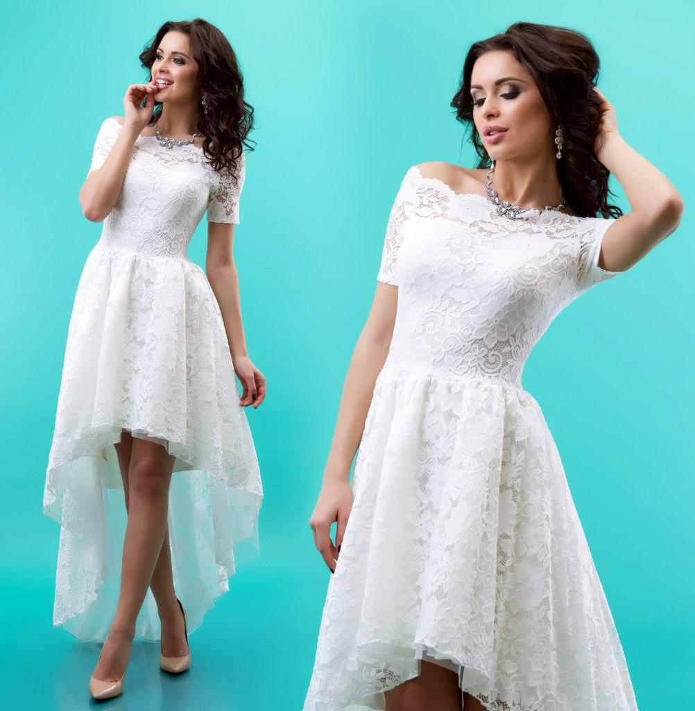 Купить Белое Гипюровое Платье