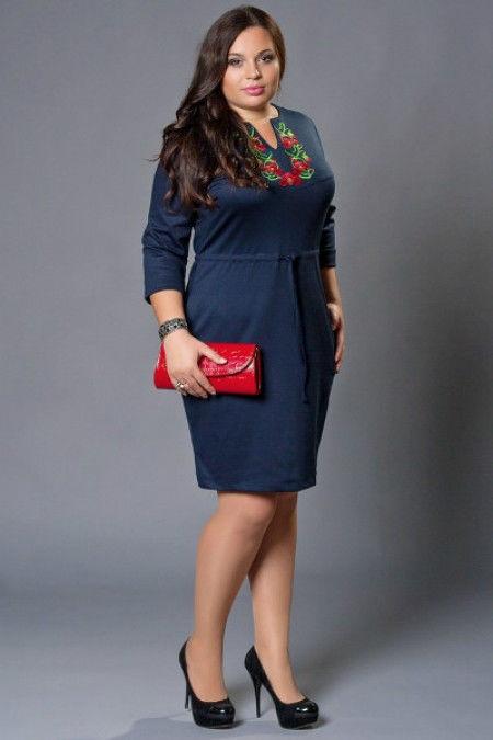Жіноча сукня вишиванка темно-синє великий розмір - Товари - Жіночий ... bef5dedcc8ae5