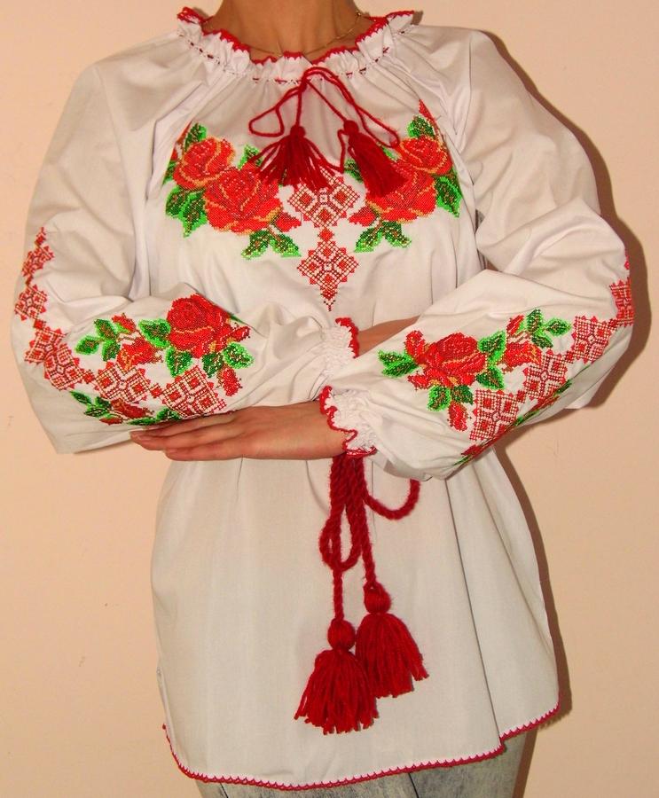 Вишиванка жіноча Троянди ціна 2e9e1e548a95b