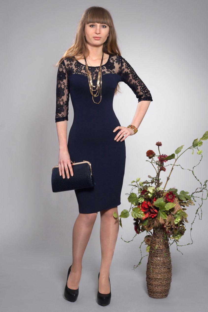 Сукня нарядна жіноча темно сині - Товари - Жіночий одяг замовити ... c82d2db0cf160